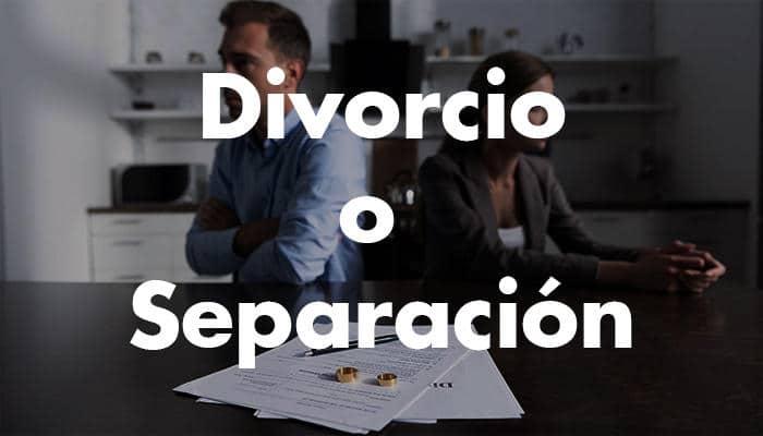 Qué es mejor, divorcio o separación